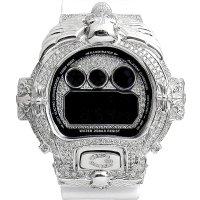 Casio G-Shock Custom by G-BALLER | DW6900 Cross&Skull Rhodium Coating Diamond