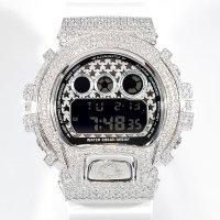 Casio G-Shock Custom by G-BALLER | DW6900 Star Dial Rhodium Coating Diamond