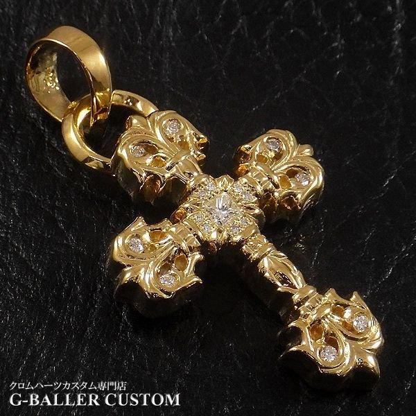 画像3: クロムハーツカスタム フィリグリークロス 22Kメッキ ダイヤ