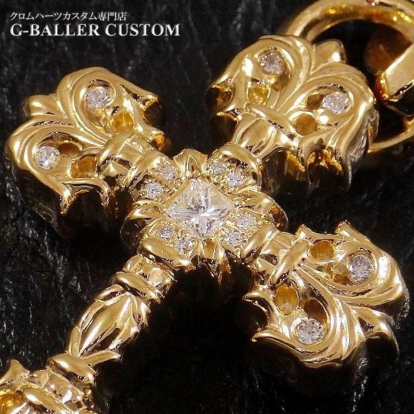 画像4: クロムハーツカスタム フィリグリークロス 22Kメッキ ダイヤ