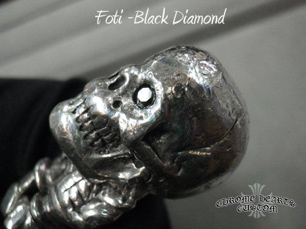 画像4: クロムハーツ キーチェーン Fotiスカル ブラックダイヤ カスタム