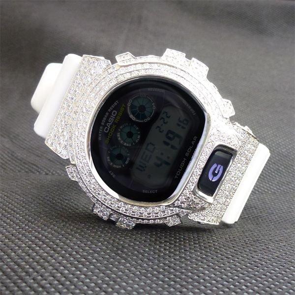 画像1: G6900A G-SHOCK CZダイアモンド7ct! SolarModel Custom ベゼル G6900