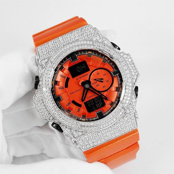 G-SHOCK GA150 オレンジ ダイヤカスタム