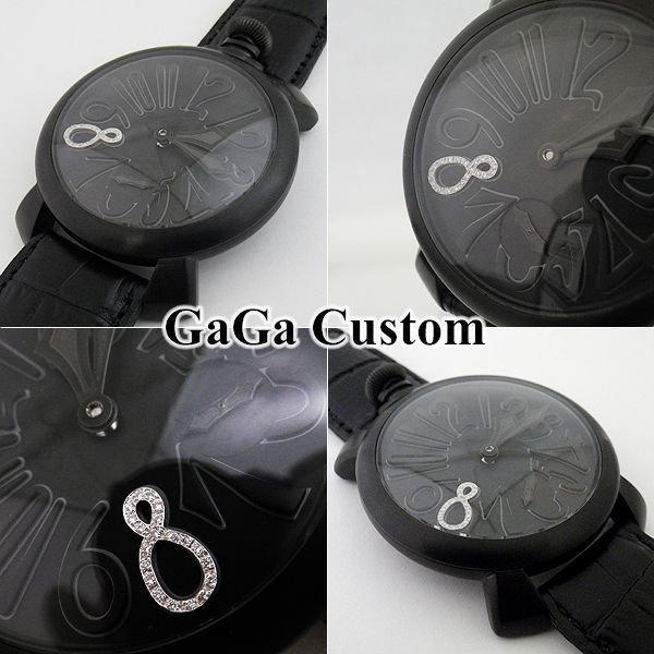 画像3: ガガミラノ 腕時計 ブラックPVD 文字盤 ダイヤ 8 5012.02S