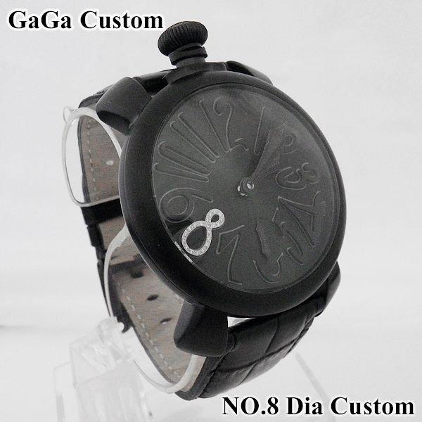 画像2: ガガミラノ 腕時計 ブラックPVD 文字盤 ダイヤ 8 5012.02S