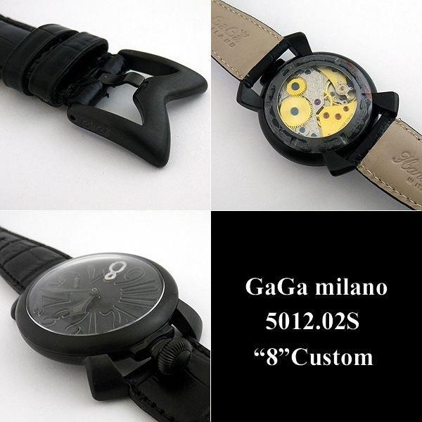 画像4: ガガミラノ 腕時計 ブラックPVD 文字盤 ダイヤ 8 5012.02S