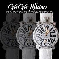 GaGa MILANO ガガミラノ ダイヤ MANUALE 48MM  watch 人気のホワイト