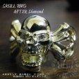 画像3: 10k スカル クロスボーン アフターダイヤ加工例 ダイヤセッティング Skull Cross Bone AFTER Diamond RING 10k  (3)