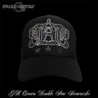 G-BALLER ロゴ スワロ キャップ ダブルライン スター  スワロフスキー CAP