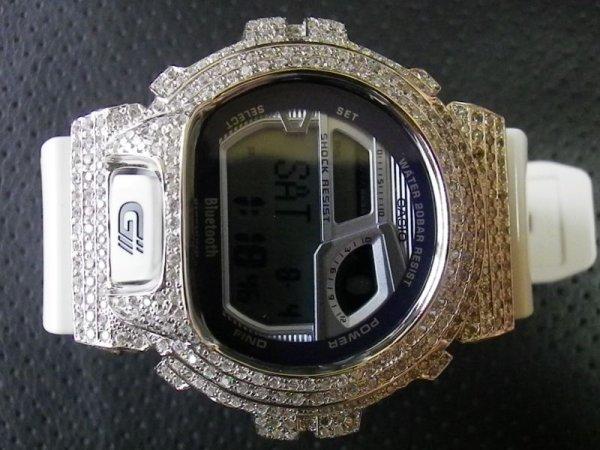 画像2: GB6900 レア カスタム 本体セット!! WHITE DIAMOND Gショックカスタム GB BLUETOOTH カスタム 世界初のブルートゥース G-SHOCKカスタム!