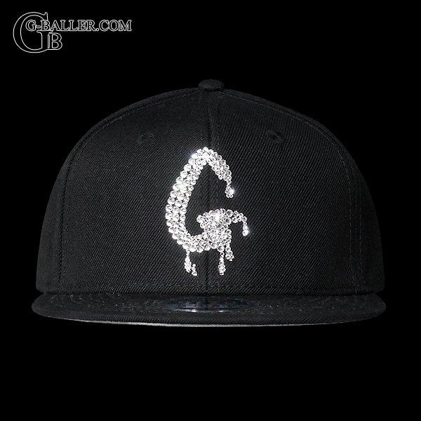 イニシャル ベースボールCAP ブラック