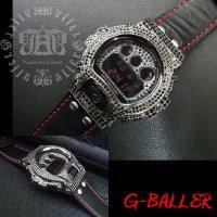 G-SHOCK レザー カスタム コンプリート モデル, (ブラック)G-SHOCK革ベルト