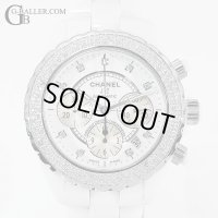 シャネル Chanel J12 Chronograph 9P Diamond Index Bezel Diamond