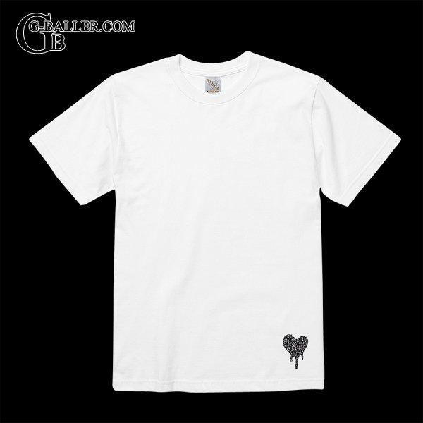 ブランドロゴが溶けてるイメージのスワロTシャツ