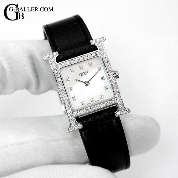 Hウォッチ HH1.210 白シェル レディース ダイヤ時計