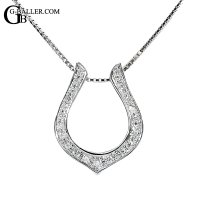 K18 WG ホースシュー ペンダント ダイヤモンド