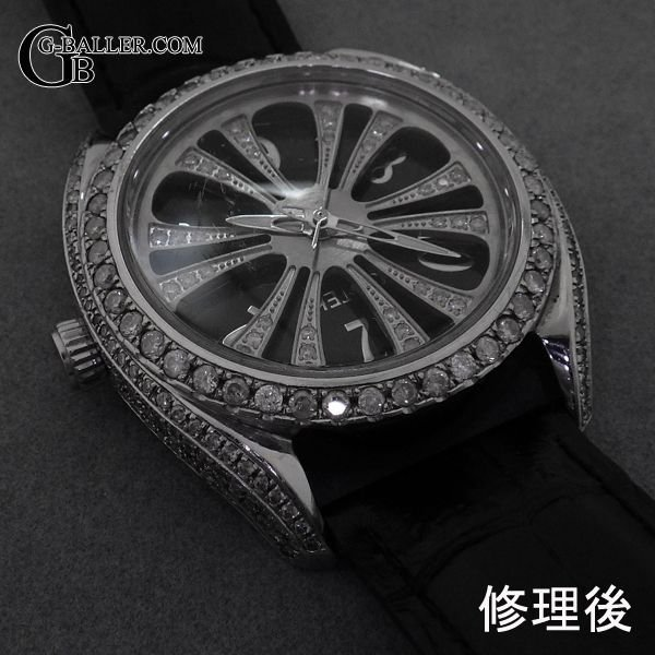 アイステック時計の石取れ修理を致します。