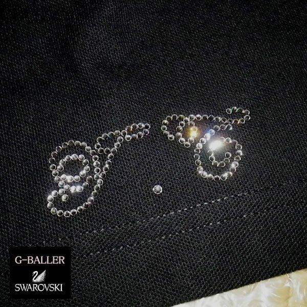 画像1: スワロTシャツ イニシャル 数字 オーダーメイド カスタム スワロフスキー Tシャツ