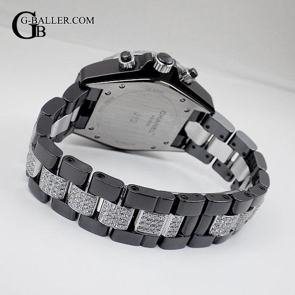 J12バゲットダイヤベゼル センターブレスダイヤ