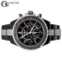 時計アフターダイヤ シャネル J12アフターダイヤ クロノ ブラックダイヤベゼル/ブレスダイヤ