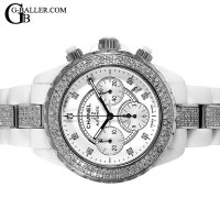 シャネル Chanel J12 Chronograph 9P Diamond Index Full Diamond
