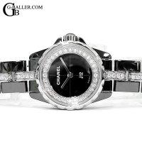 シャネル J12 XS 19mm H5236 フランジ 32Pダイヤ ブレスダイヤモンド 黒 新品