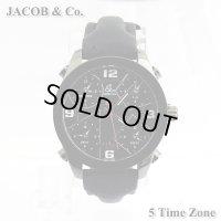 ジェイコブ JACOB&Co. 5タイムゾーン ブラックPVD 40mm