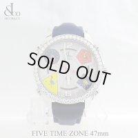 ジェイコブ/JACOB&CO 5タイムゾーン 正規 ダイヤモンド 47mm メンズ 腕時計
