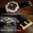 画像4: G-BALLER ブラッククロコレザー GA110ピンクゴールドカスタム スペシャルエディション 限定カラー 特別仕様 (4)