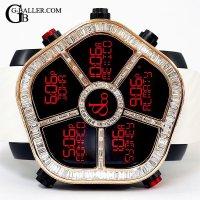 新品 ジェイコブゴースト 18KPG バゲットダイヤベゼル JACOB&Co.時計