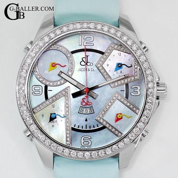 ジェイコブ時計 ファイブタイムゾーン JC23DA ダイヤモンド