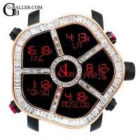 ジェイコブファイブタイムゾーン アフターダイヤ | ゴースト 18KPG バゲットダイヤベゼル JACOB&Co.時計