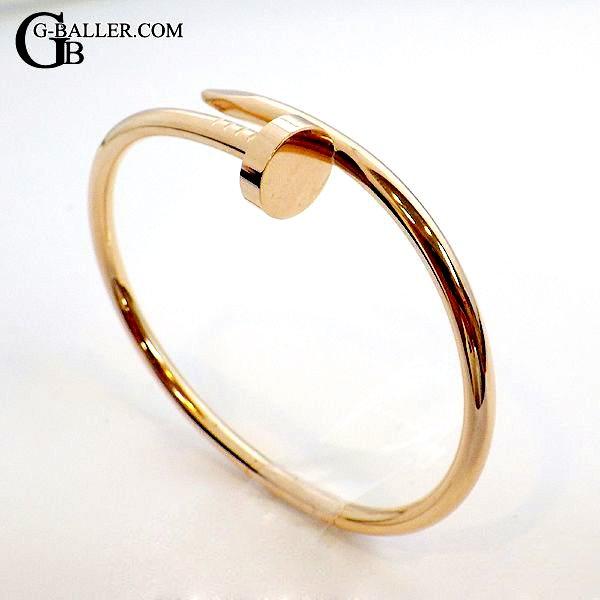 カルティエアフターダイヤでも人気の「ジュストアンクル ブレスレット PG」中古美品です。