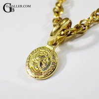 18金 コイン チャーム K18 YG ネックレス