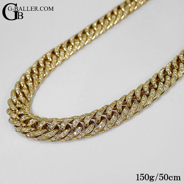 喜平6面カットダブル 150g 50cm ダイヤモンドネックレス