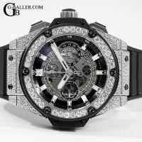 ウブロアフターダイヤ キングパワー ウニコ チタニウム 時計 アフターダイヤ