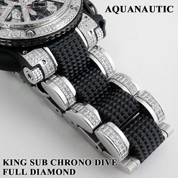 画像3: アクアノウティック  ダイヤ キングサブクロノ スケルトン フルダイヤモンド
