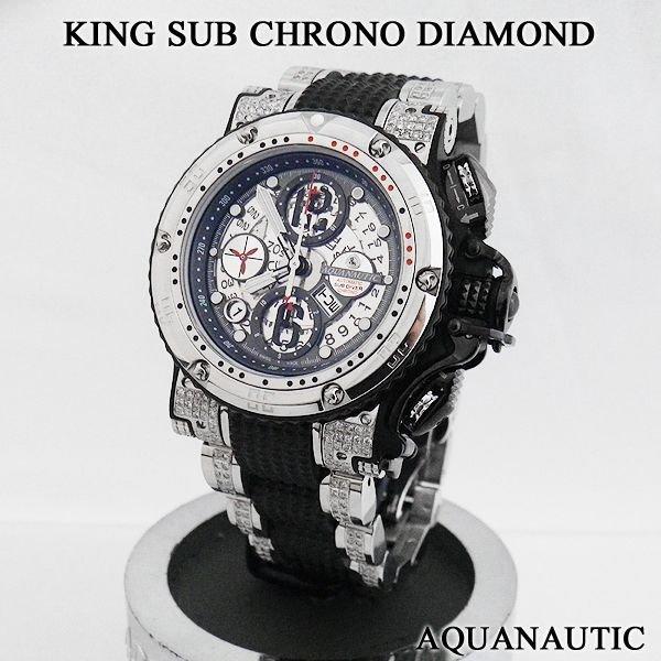 画像2: アクアノウティック  ダイヤ キングサブクロノ スカルトンI ダイヤモンド
