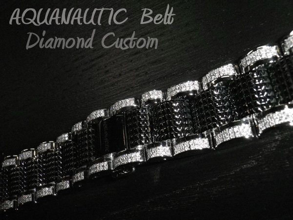 画像2: アクアノウティック ベルト交換 ダイヤ チタンベルト コマ アフターダイヤ