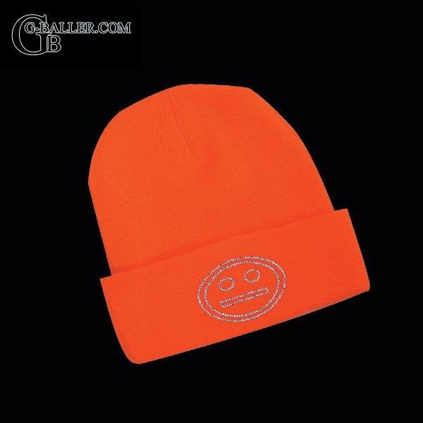 スマイルデザイン オレンジニット帽
