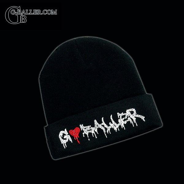 g-ballerロゴ入りのオシャレブラックニット帽