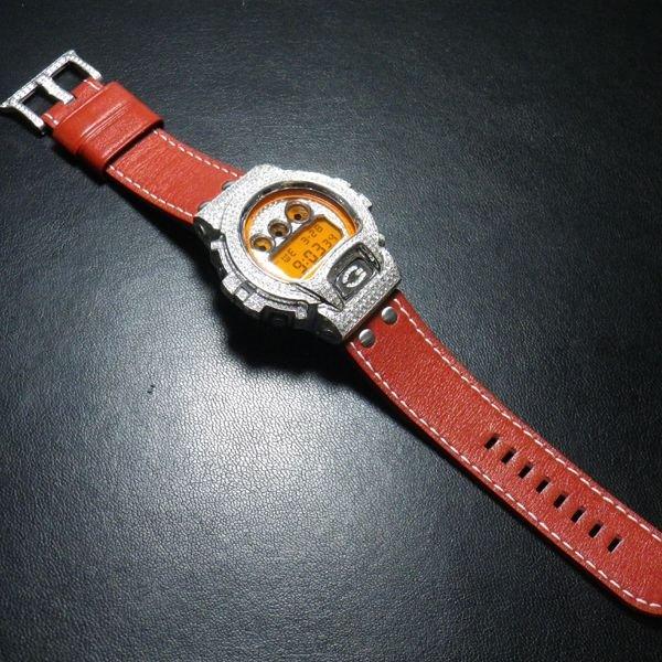 画像2: G-SHOCK レザーベルト G-SHOCK革ベルト 本革最高級品,カラー多数! G-SHOCKカスタム