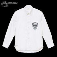 メキシカンスカル シャツ スワロフスキー ボタンダウンシャツ
