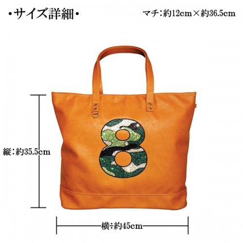 他の写真1: スワロ レザーデコ バッグ 数字 トートバック