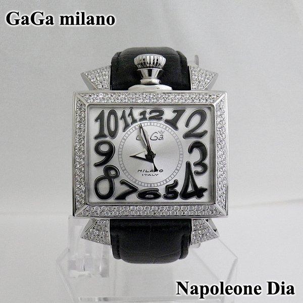 画像1: ガガミラノ ナポレオーネ 48mm ダイヤ GaGa milano 時計