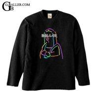Neon Mona Lisa Swarovski LongTShirt / ネオン モナリザ スワロシャツ ロングスリーブ