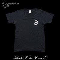 数字 Tシャツ スワロフスキー ナンバー8