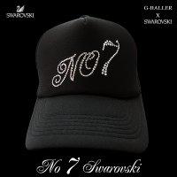 スワロフスキー キャップ ナンバー 7 ナンバリング G-BALLER オリジナル スワロキャップ 数字 スワロ CAP