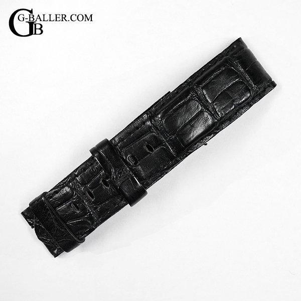パネライ用 ベルト クロコ型押し ブラック