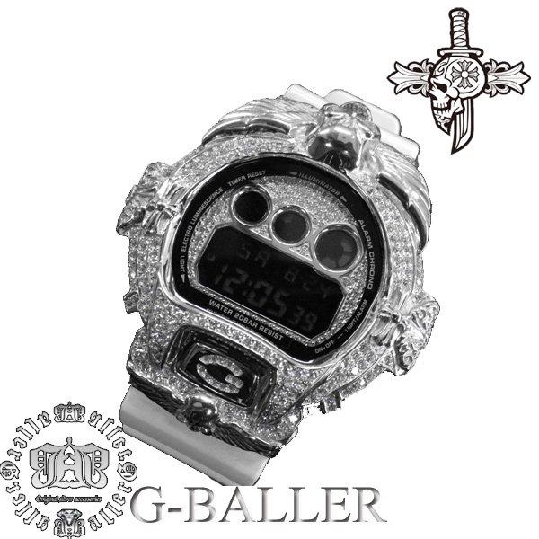 画像1: クロムスカル WG Silver925カスタム カスタムベゼル クロムハーツウォッチバンド 時計
